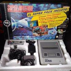 Videojuegos y Consolas: SUPER NINTENDO PAL VERSION CONSOLA, 2 MANDOS, CARGADOR, CABLE TV, Y CAJA TODO ORIGINAL. Lote 118498675
