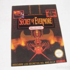 Videojuegos y Consolas: SECRET OF EVERMORE - LIBRO DE PISTAS OFICIAL DE NINTENDO - BUEN ESTADO - SUPERNINTENDO. Lote 118444979