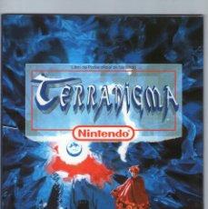 Videojuegos y Consolas: TERRANIGMA - LIBRO DE PISTAS OFICIAL - SUPER NINTENDO - AÑO 1996.. Lote 121126395