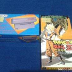 Videojuegos y Consolas: JUEGO Y ADAPTADOR SUPER NINTENDO DRAGON BALL Z ( JAPAN ) FAMICOM BAN DAI - ADAPTADOR HONEY BEE . Lote 122614775