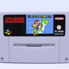 Videojuegos y Consolas: SUPERNINTENDO SNES SUPER NINTENDO - SUPER MARIO WORLD - CARTUCHO - PAL ESP. Lote 124078143