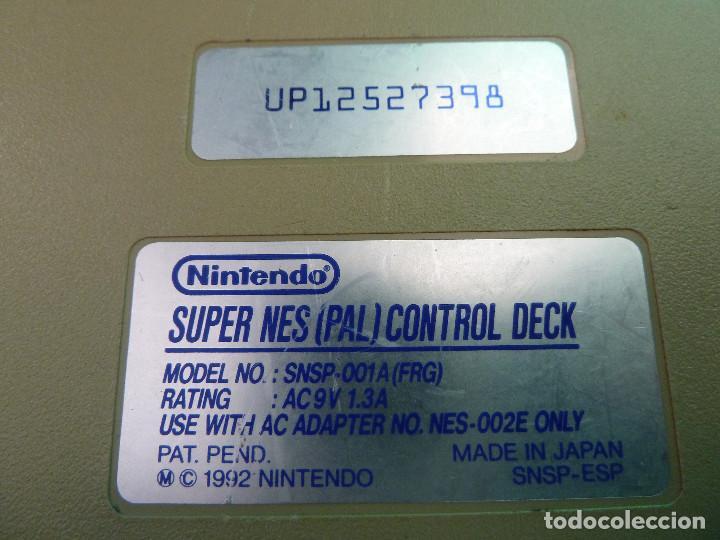 Videojuegos y Consolas: CONSOLA SUPER NINTENDO SNES - Foto 7 - 124799871