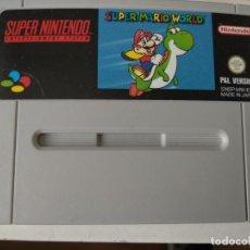 Videojuegos y Consolas: SUPER MARIO WORLD SNES SUPER NINTENDO PAL-ESPAÑA. Lote 129973647