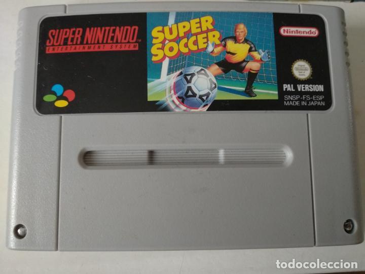 SUPER NINTENDO - SUPER SOCCER (Juguetes - Videojuegos y Consolas - Nintendo - SuperNintendo)