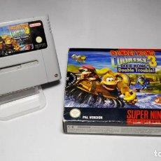 Videojuegos y Consolas: DONKEY KONG COUNTRY 3 - DIXIE KONG´S ( SNES- SUPER NINTENDO -PAL). Lote 142786396