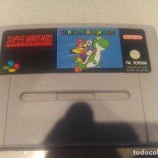 Videojuegos y Consolas: SUPER MARIO WORLD PAL-ESPAÑA SUPER NINTENDO SNES . Lote 130623446