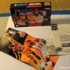 Videojuegos y Consolas: LOTE CAJA VACIA + POSTER NBA ALL-STAR CHALLENGE NINTENDO SUPERNINTENDO. Lote 131483798