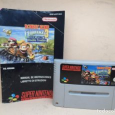 Videojuegos y Consolas: NINTENDO SNES DONKEY KONG COUNTRY 3 DIXIE KONG'S DOUBLE TROUBLE PAL. Lote 164961688