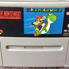 Videojuegos y Consolas: 1992, SUPER MARIO WORLD. JUEGO SUPER NINTENDO SUPER NES. 1ª EDICION.. Lote 137213320