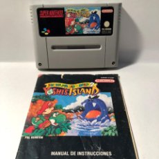 Videojuegos y Consolas: SUPER MARIO WORLD 2 YOSHI'S ISLAND SUPER NINTENDO SNES. Lote 137886174