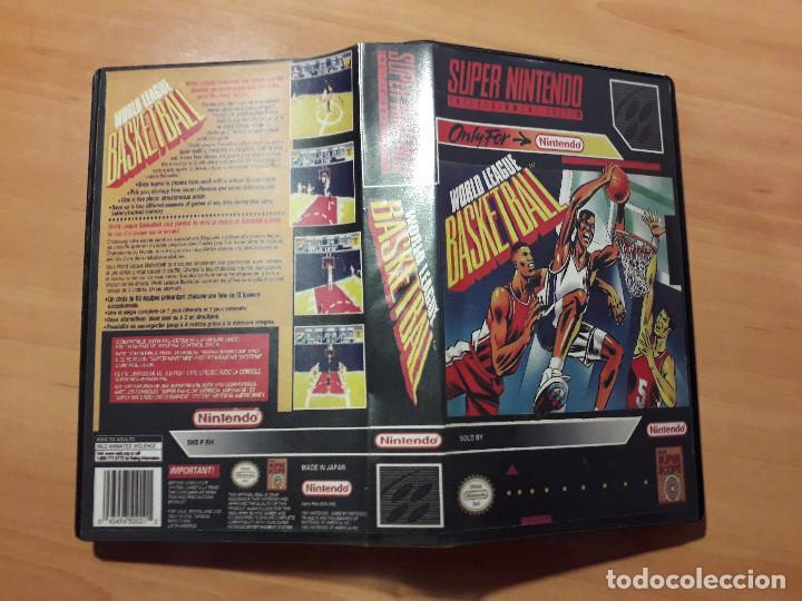 08-00298 SUPER NINTENDO- JUEGO WORLD LEAGUE BASKETBALL (Juguetes - Videojuegos y Consolas - Nintendo - SuperNintendo)