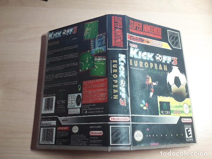 08-00302 SUPER NINTENDO- JUEGO KICK OFF 3 EUROPEAN CHALLENGE (Juguetes - Videojuegos y Consolas - Nintendo - SuperNintendo)