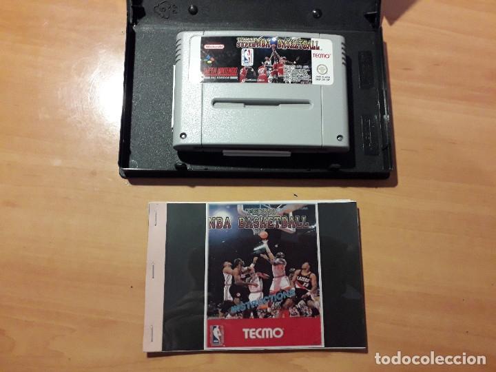 Videojuegos y Consolas: 08-00300 SUPER NINTENDO- JUEGO TECMO SUPER NBA BASKETBALL - Foto 2 - 137932418