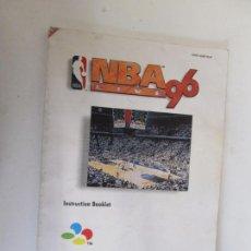 Videojuegos y Consolas: INSTRUCTION BOOKLET -SUPER NINTENDO - NBA LIVE 96 . MANUAL DE INSTRUCCIONES . Lote 138797658
