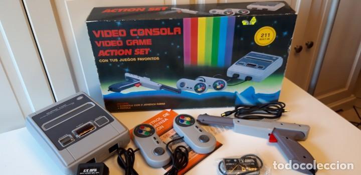 CONSOLA CLON SUPER NINTENDO CON 211 JUEGOS ARCADE. (Juguetes - Videojuegos y Consolas - Nintendo - SuperNintendo)