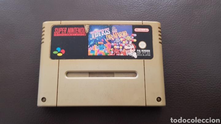 JUEGO SUPER NINTENDO TETRIS & DR. MARIO SNES CARTUCHO SUPERNINTENDO (Juguetes - Videojuegos y Consolas - Nintendo - SuperNintendo)