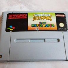 Videojuegos y Consolas: JUEGO SUPER MARIO ALL STARS SUPER MARIO WORLD SUPER NINTENDO SNES SUPERNINTENDO. Lote 142327196