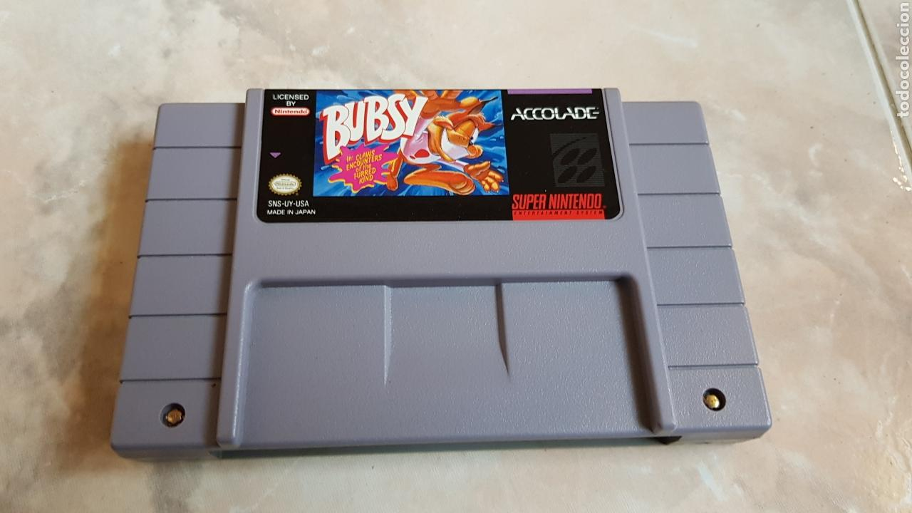 JUEGO ORIGINAL SUPERNINTENDO BUBSY SNES SUPER NINTENDO CARTUCHO (Juguetes - Videojuegos y Consolas - Nintendo - SuperNintendo)