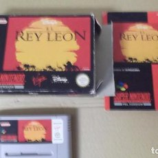 Videojuegos y Consolas: JUEGO SUPERNINTENDO SUPER NINTENDO ORIGINAL EL REY LEON PAL VERSION . Lote 143117486