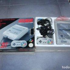 Videojuegos y Consolas: SUPER NINTENDO NES CONTROL SET COMPLETA CAJA CORCHO MANDO Y CABLES. Lote 143229142