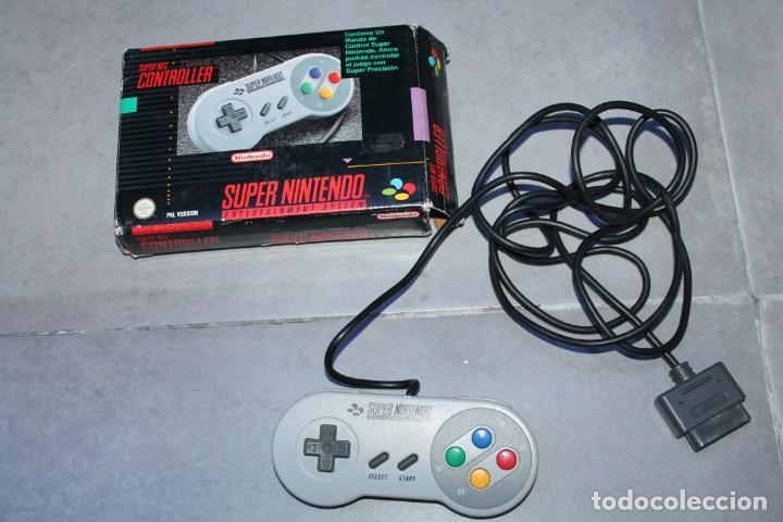 SUPER NINTENDO NES CONTROLLLER MANDO EN CAJA ORIGINAL (Juguetes - Videojuegos y Consolas - Nintendo - SuperNintendo)