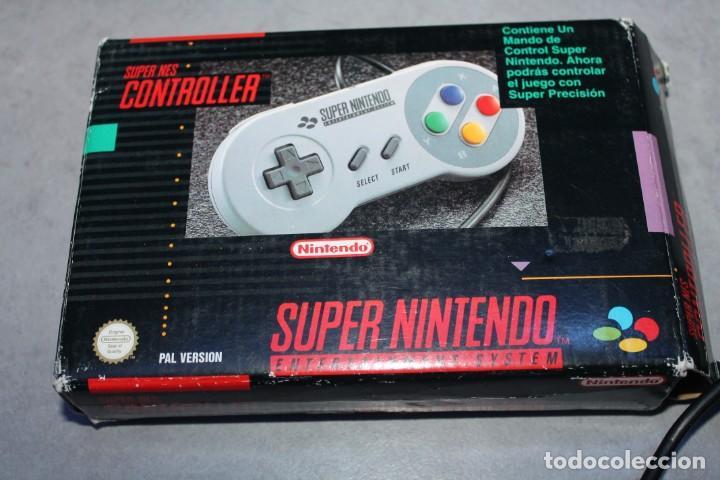 Videojuegos y Consolas: Super Nintendo NES Controlller Mando en caja Original - Foto 3 - 143229374