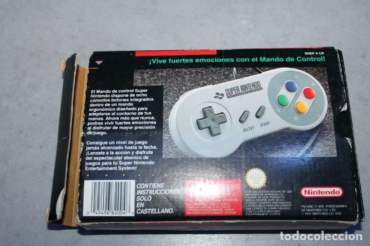 Videojuegos y Consolas: Super Nintendo NES Controlller Mando en caja Original - Foto 4 - 143229374