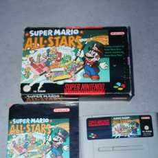 Videojuegos y Consolas: SUPER MARIO ALL STARS PARA SUPER NINTENDO NES CON CAJA E INSTRUCCIONES PAL SNES. Lote 143229834