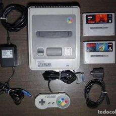 Videojuegos y Consolas: CONSOLA SUPER NINTENDO PAL - SNES - SUPERNINTENDO + 2 JUEGOS. Lote 143785314