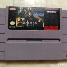 Videojuegos y Consolas: BATMAN RETURNS SUPER NINTENDO VERSIÓN AMERICANA. Lote 145133330