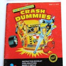 Videojuegos y Consolas: CRASH TEST DUMMIES SUPER NES NINTENDO MANUAL INSTRUCCIONES INGLÉS. Lote 146044498