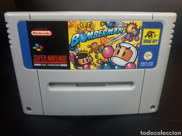 SUPER BOMBERMAN SUPER NINTENDO SNES (Juguetes - Videojuegos y Consolas - Nintendo - SuperNintendo)