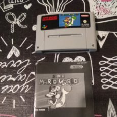 Videojuegos y Consolas: MANUAL E INSTRUCCIONES SUPER MARIO WORLD SUPER NINTENDO PAL. Lote 147606785