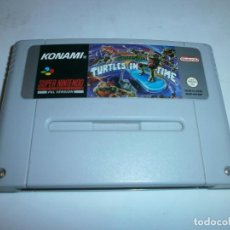 Videojuegos y Consolas: TURTLES IN TIME (TURTLES IV) SUPER NINTENDO SNES PAL ESPAÑA SOLO CARTUCHO. Lote 147786410