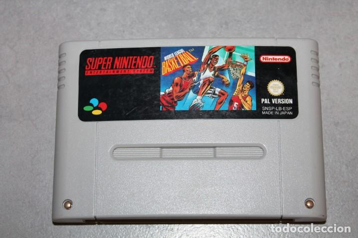 WORLD LEAGUE BASKETBALL SUPER NINTENDO SOLO CARTUCHO PAL SNES FUNCIONANDO (Juguetes - Videojuegos y Consolas - Nintendo - SuperNintendo)