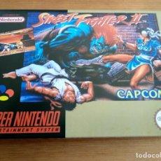 Videojuegos y Consolas: SUPER NINTENDO STREET FIGHTER II PAL ESPAÑA CAJA UK REPRO. Lote 149226250