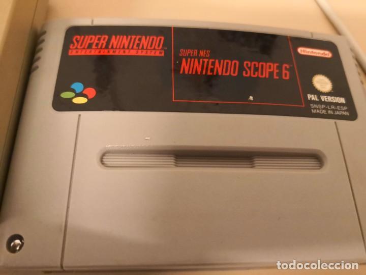 Videojuegos y Consolas: SUPER NES NINTENDO SCOPE PARA SUPER NINTENDO más juego scope 6 pal version español - Foto 2 - 150562186