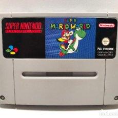 Videojuegos y Consolas: SUPER MARIO WORLD SUPER NINTENDO SNES. Lote 150793002