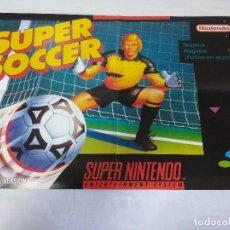 Videojuegos y Consolas: POSTER SUPER NINTENDO/SUPER SOCCER.. Lote 151400454
