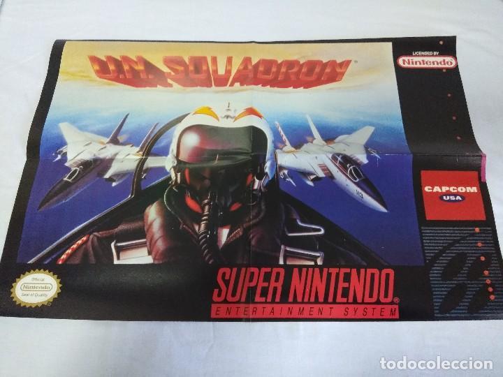 POSTER SUPER NINTENDO/U.N. SQUADRON. (Juguetes - Videojuegos y Consolas - Nintendo - SuperNintendo)