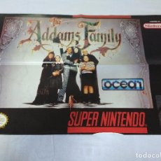 Videojuegos y Consolas: POSTER SUPER NINTENDO/THE ADAMS FAMILY.. Lote 151400830
