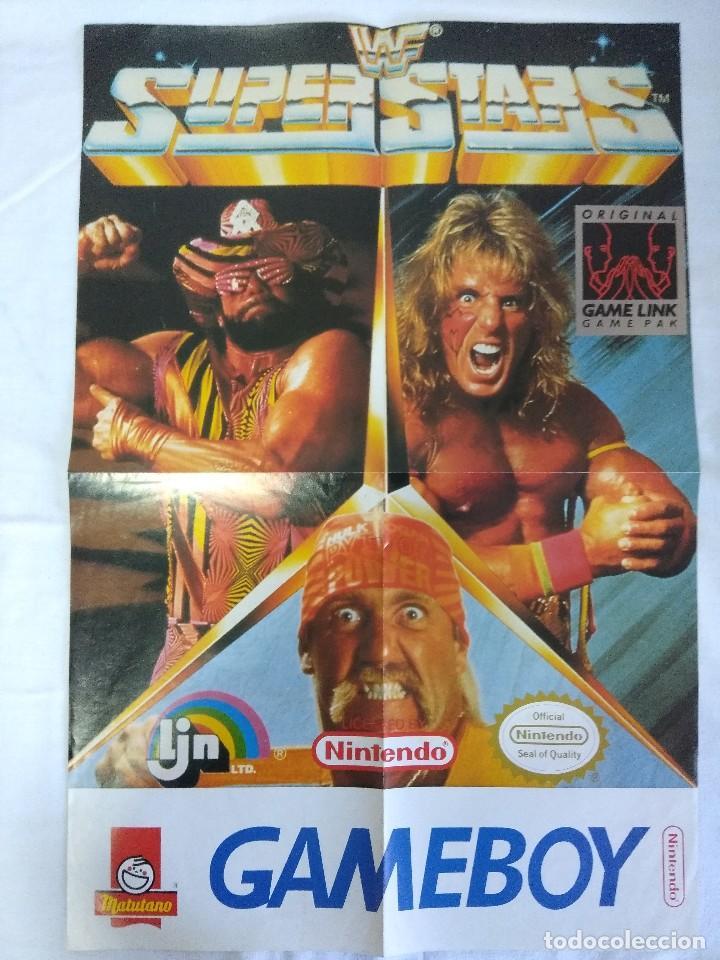 POSTER GAME BOY NINTENDO/WF SUPER STARS. (Juguetes - Videojuegos y Consolas - Nintendo - SuperNintendo)