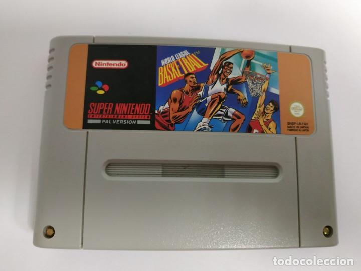 J- WORLD LEAGUE- BASKETBALL- SUPER NINTENDO- SNSP VERSION EUROPEA- MUY BUEN ESTADO (Juguetes - Videojuegos y Consolas - Nintendo - SuperNintendo)