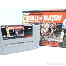 Videojuegos y Consolas: BULLS VS BLAZERS SUPER NINTENDO SNES - VERSION AMERICANA. Lote 151904462