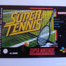 Videojuegos y Consolas: FICHA NINTENDO/MATUTANO Nº34/SUPER TENNIS.. Lote 152219482