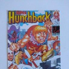 Videojuegos y Consolas: FICHA NINTENDO/MATUTANO Nº23/SUPER HUNCHBACK.. Lote 152219582