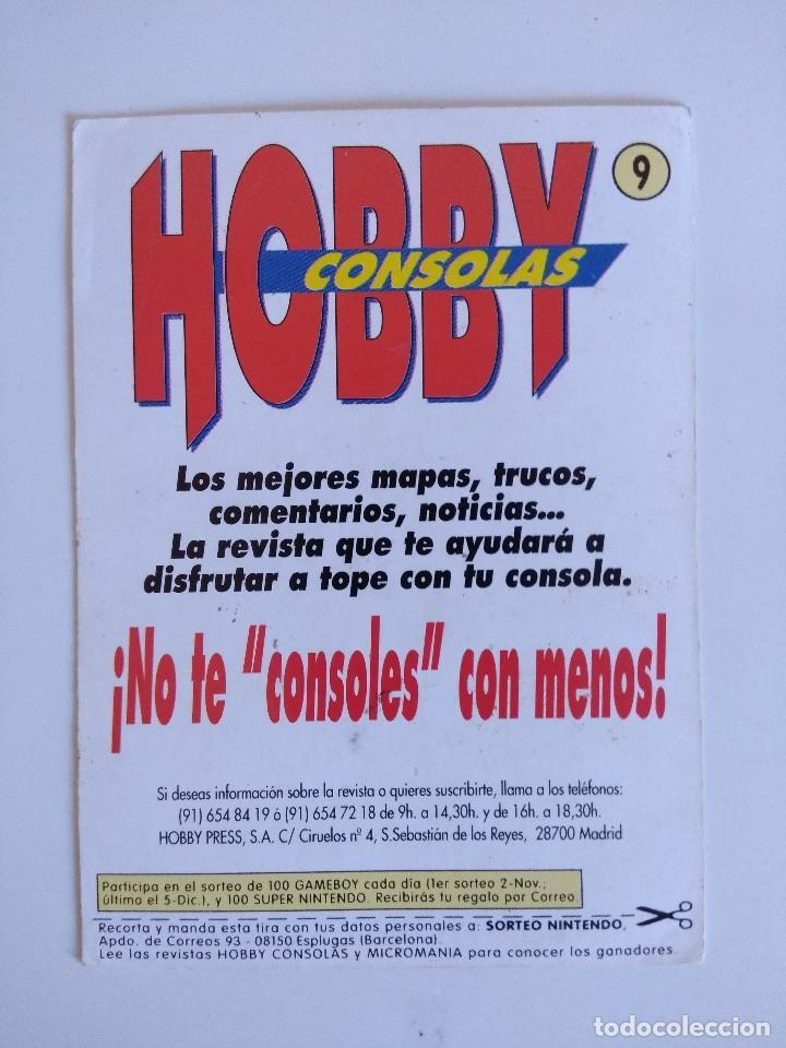 Videojuegos y Consolas: FICHA NINTENDO/MATUTANO Nº9/HOBBY CONSOLAS. - Foto 2 - 152219750