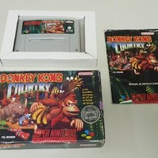 Videojuegos y Consolas: J-DONKEY KONG COUNTRY SUPER NINTENDO VERSION ESPAÑOLA . Lote 152247666