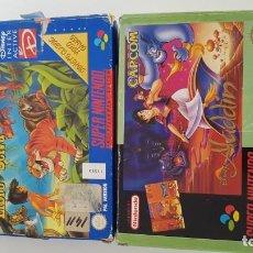 Videojuegos y Consolas: ALADDIN Y EL REY LEÓN COMPLETOS SUPER NINTENDO. Lote 152247698