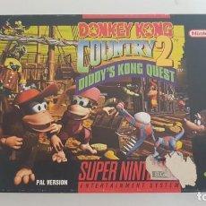 Videojuegos y Consolas: DONKEY KONG COUNTRY 2 PAL ESPAÑA COMPLETO SUPER NINTENDO. Lote 152424642